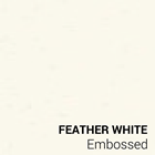 Feather White Embossed